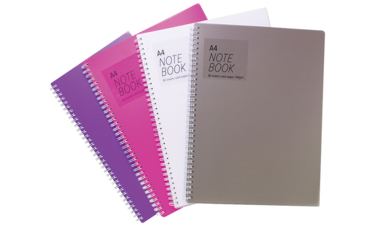 Tiger A4 P/Prop Cover Spiral Notebook 80 Sheets, 80g F&M