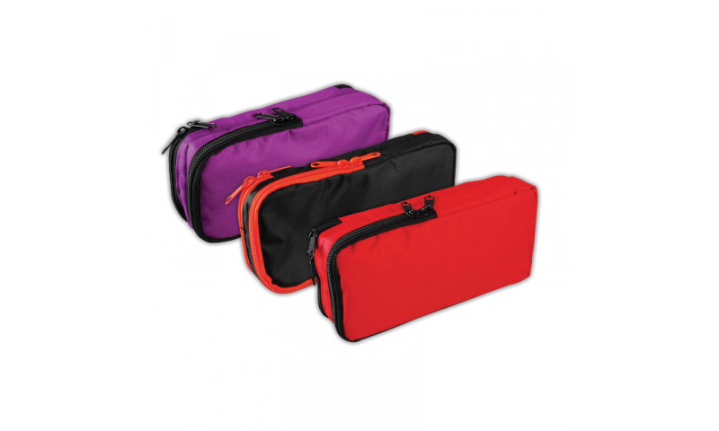 Tiger Large Rectangular Double End Zip Pencil Case, 3 Asstd (New Lower Price for 2021)