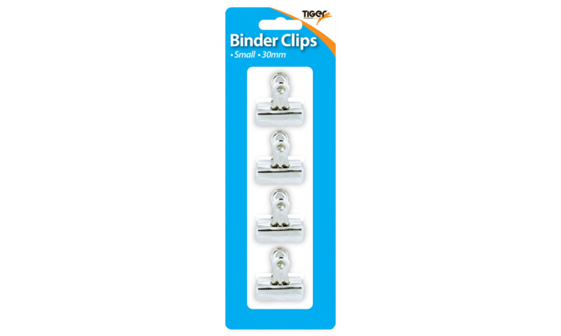 Tiger 30mm Large Chrome Letter Clips 4 Pack, Hangcarded