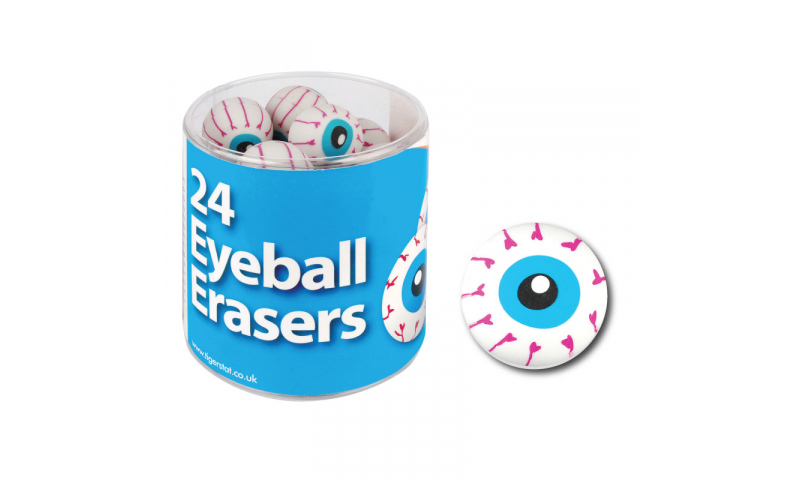 Tiger Fun Eyeball Erasers, Tubbed  (New Lower Price for 2021)