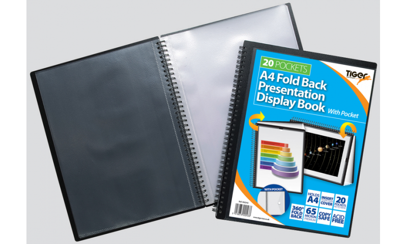 Tiger ECO A4 Jumbo Wiro Bound Display Books 20 Pockets (New Lower Price for 2021)