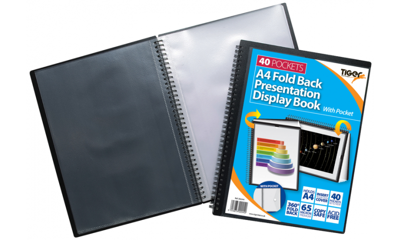 Tiger ECO A4 Jumbo Wiro Bound Display Books 40 Pockets (New Lower Price for 2021)