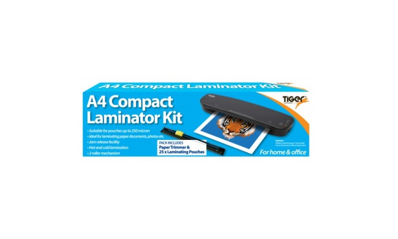 Tiger A4 Laminator Pouch, Trimmer & Pouches Kit Deal
