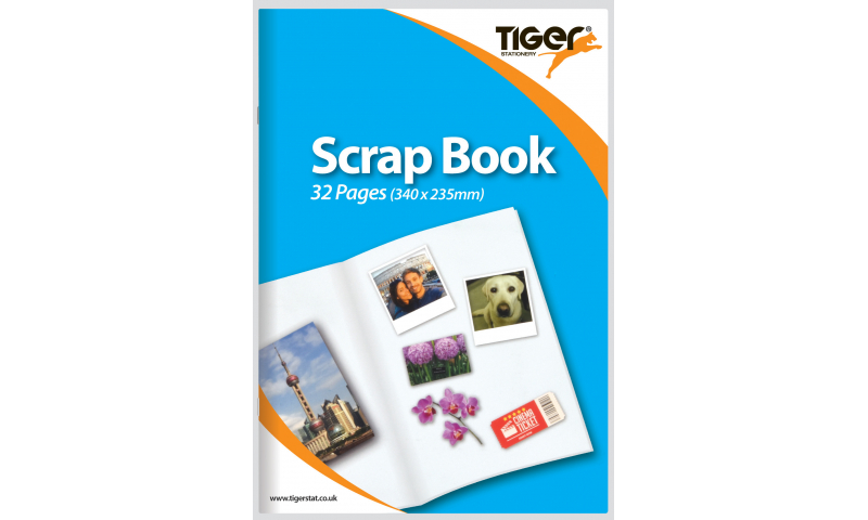 Tiger Large Scrap Book, 32 Pages Size: 340 x 235mm