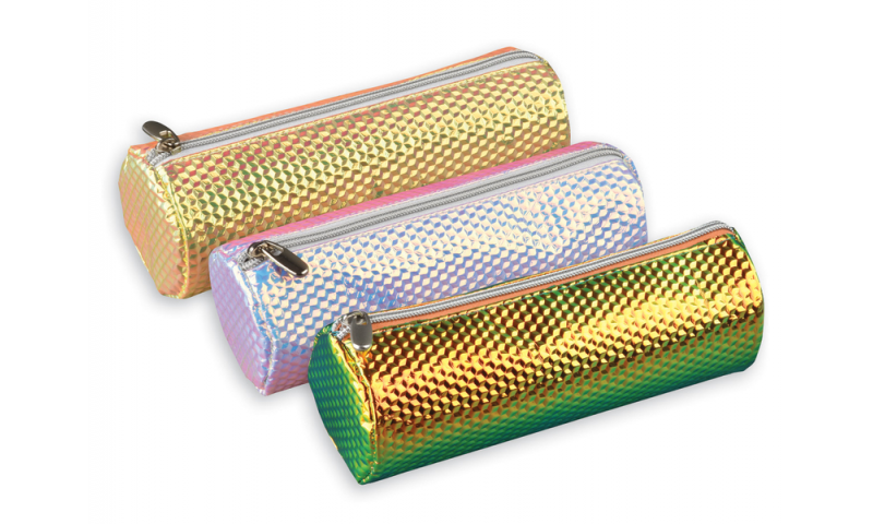 Tiger Holographic Glitz Pencil Case 3 Asstd Colours (New Lower Price for 2021)