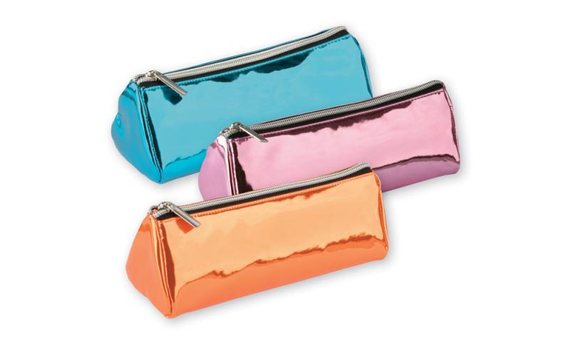 Tiger Metallic Triangular Pencil Case 3 Asstd Colours (New Lower Price for 2021)