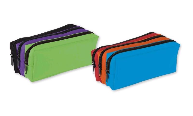 Tiger Tri Colour 3 Compartment Pencil Case 2 Asstd Colours