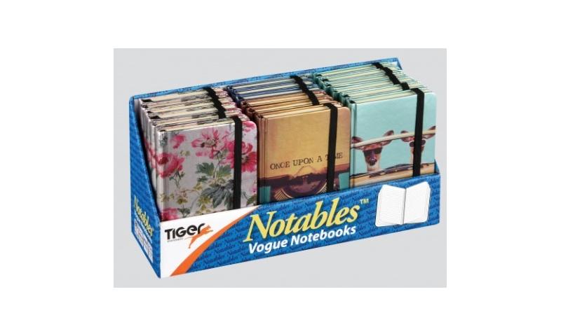 Tiger B7 Notable Notebook-Vogue designs, 4 Asstd