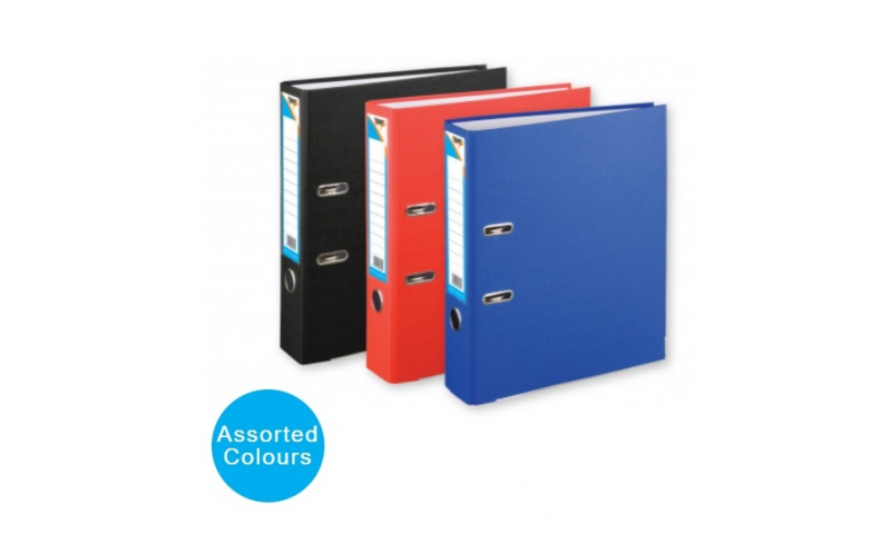 Tiger Eco A4 Office Lever Arch Files, Metal Protection, 3 Asstd Colours