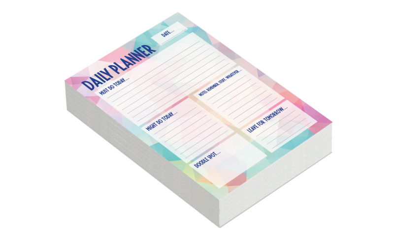 Tiger A5 Daily Planner Organiser Pad, 100 Sheets