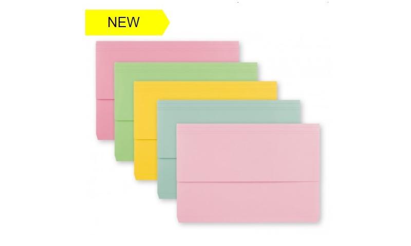 Tiger A4+ Card Document Wallets - Pastel 5 asstd