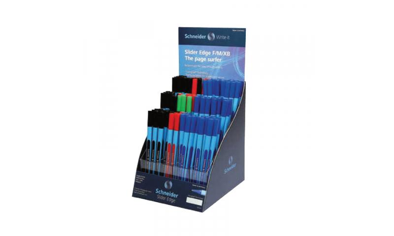 Schneider Slider Edge Triangular, Ergo Ball Pen XB Display Asstd. CO2 Neutral Production