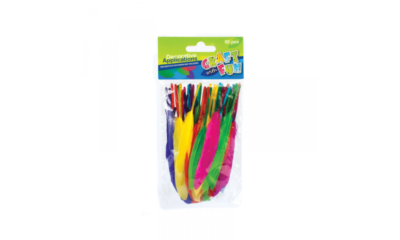 CRAFT with FUN FEATHERS 50PCS.  (New Lower Price for 2021)