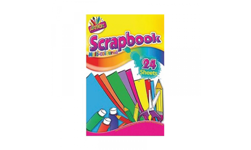 "Artbox Scrap Book, Large 14x9"" 48 Pages, Multicoloured Pages"