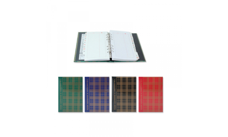 Just Stationery Telephone and Address Book, executive ring bound, Loose Leaf