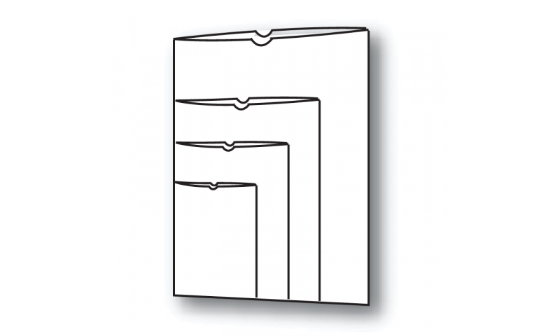 Flipfile A4 Polypropylene Open Top Card Holders 120 Micron
