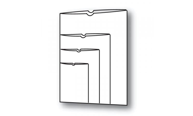 Flipfile A5 Polypropylene Open Top Card Holders 120 Micron