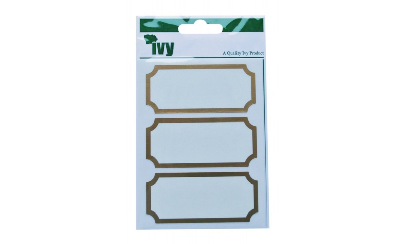 IVY  Gold Frame Stickers 21 Labels per pk 34x75 mm