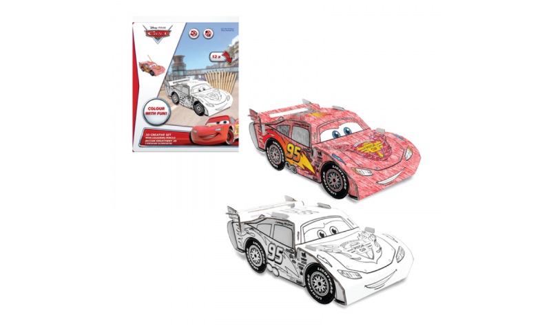 Starpak Disney Cars, Create Your Own 3D Model Kits including Colouring Pencils