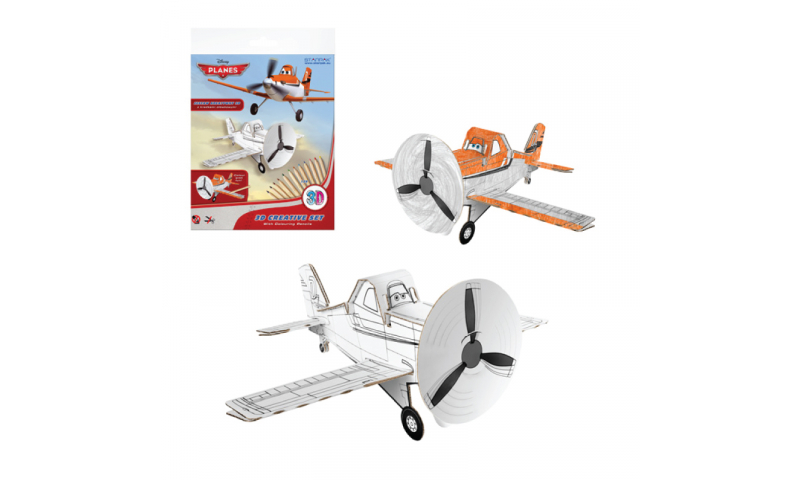 Starpak Disney Planes Create Your Own 3D Model Kits including Colouring Pencils