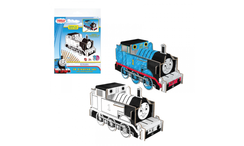 Starpak Thomas The Tank Create Your Own 3D Model Kits including Colouring Pencils.
