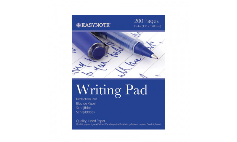 EasyNote Duke size Writing Pad 200 page Ruled (New Lower Price for 2021)