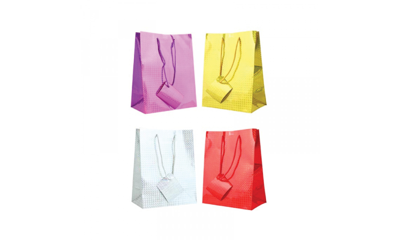 Just to Say Holographic Gift bag, Rope Handles & Tag Small H 145 x W 115 x D 65mm