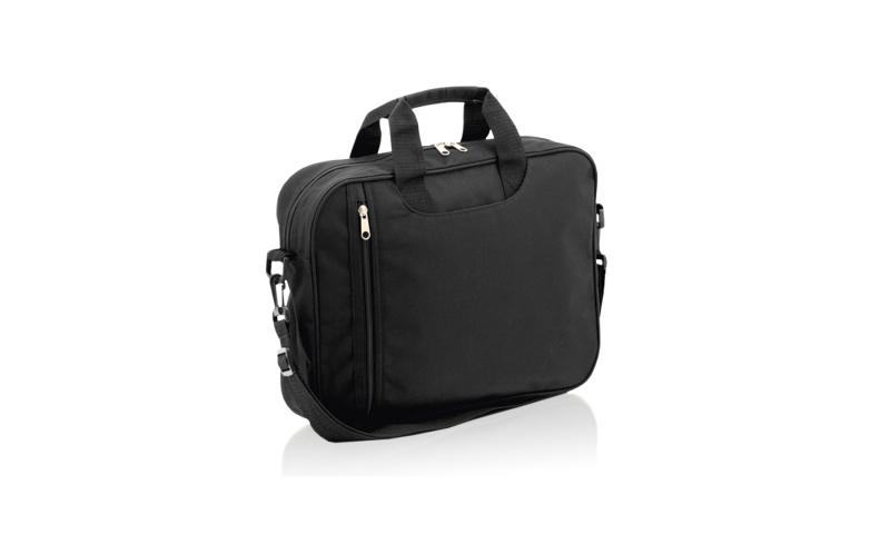 "Santini Polyester laptop bag 13"" Capacity, shoulder Strap, Carry Handles, Outside Pocket, 37x29x9cm"