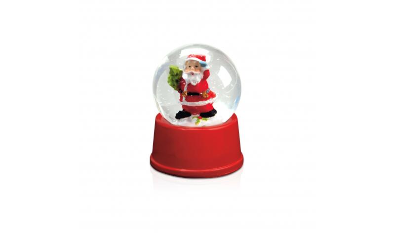Xmas Snowflake Waterball Santa Figurine