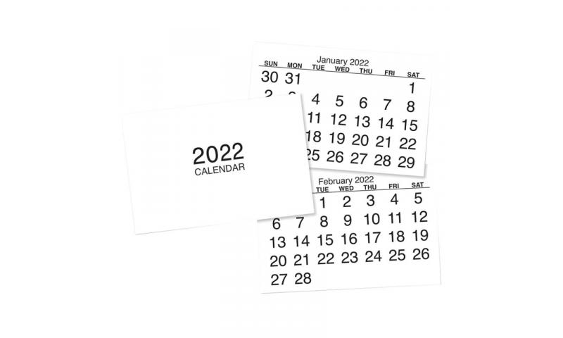 Self Adhesive 12 Page Calendar Tabs 2022, Hangpack of 5