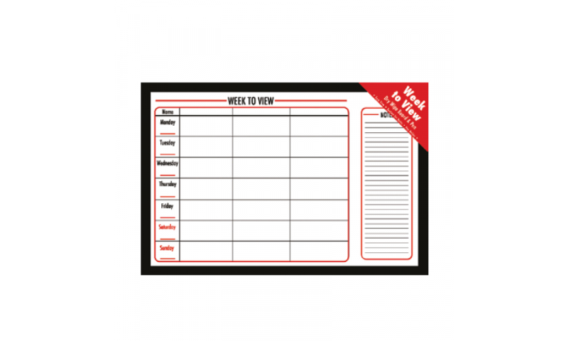 Just Stationery Weekly Dry Wipe Planning Board, 400x600mm