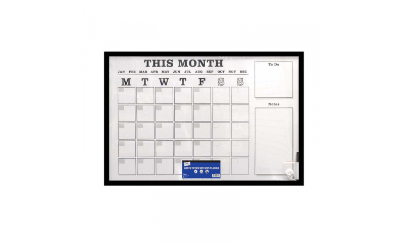 Just Stationery Large Monthly Dry Wipe Planning Board, 800x600mm (New Style arriving End Aug)
