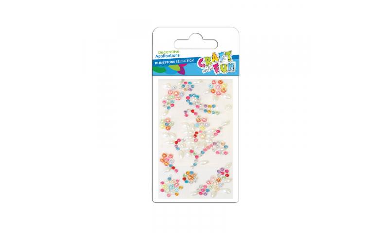 Craft with Fun  Rhinestone Pattern Stickers, Asstd Colours