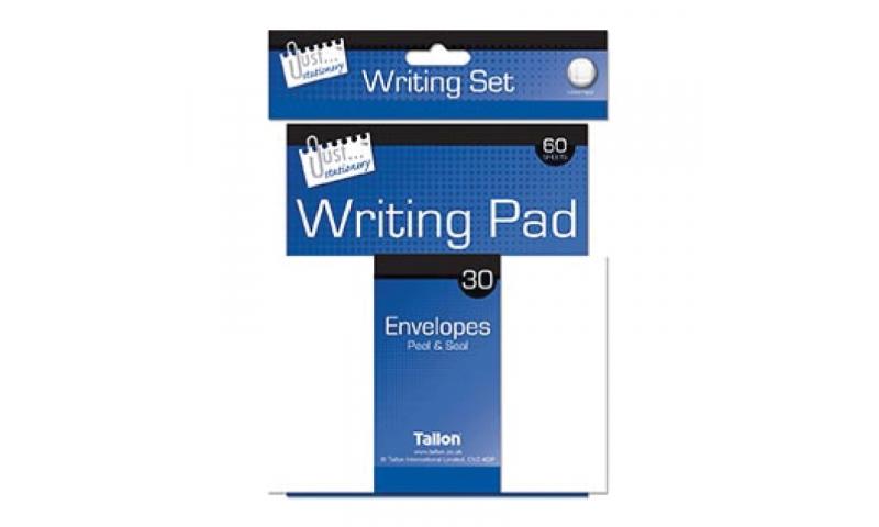 Just Stationery Writting Set, 60 Sheets, 30 Envelopes Pen & Pen
