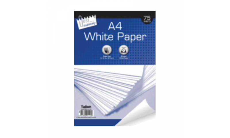 Just Stationery A4 White Copier Paper 75 sheets