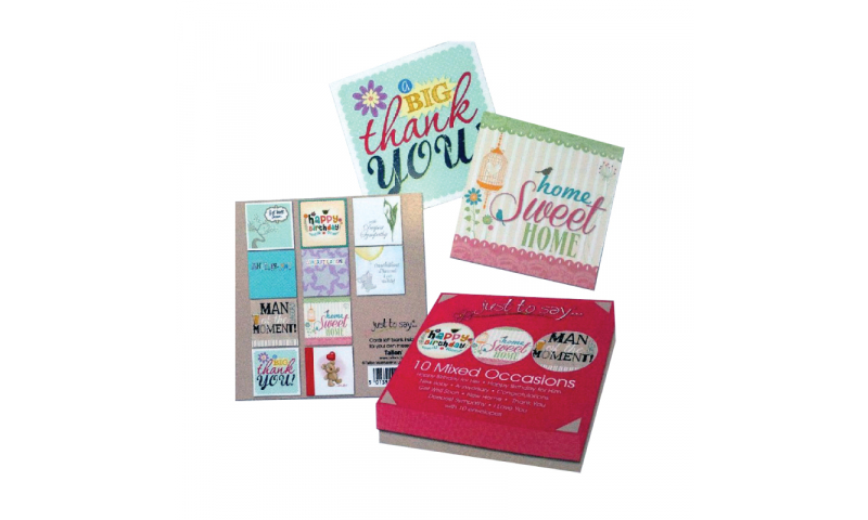 Just to Say Greeting Cards, Mixed Occasion Pack of 8, in Gift box (New Reduced Price for 2020)