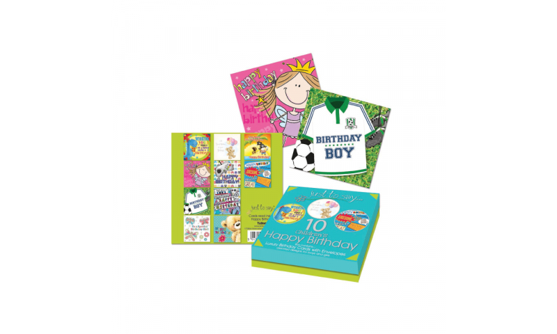 Just to Say Birthday Cards, Pack of 8 Children's Designs asstd, Gift boxed (New Reduced Price for 2020)