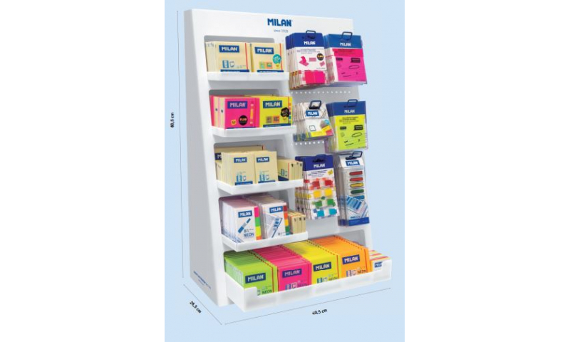 Milan Large Sticky Note Counter Display - Filled with Stock
