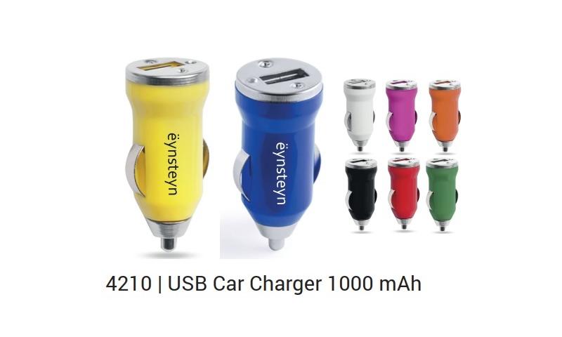 Ëynsteyn Car Socket USB Charger 1000mah, Asstd