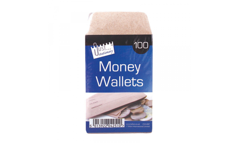 Just Stationery Money Wallet / Wage envelopes 70x 105mm Pack of 80