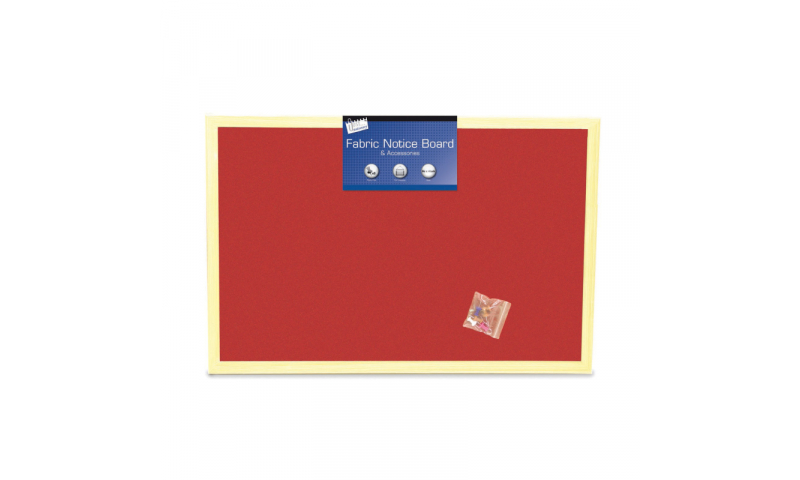 Just Stationery Notice Board, Fabric 400 x 600mm, 3 Asstd (New Lower Price for 2021)