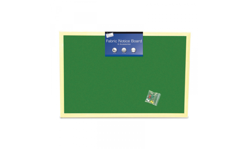 Just Stationery Notice Board, Fabric 600 x 800mm (New Lower Price for 2021)