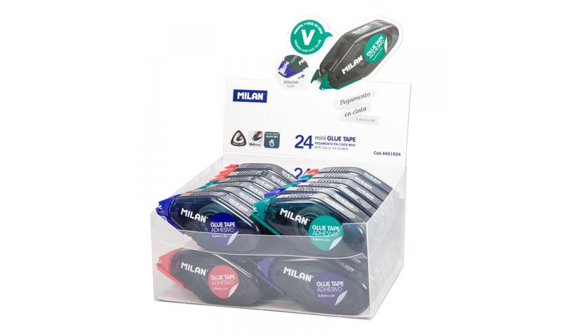 Milan Mini Glue tape Handheld Dispenser 8.4mm x 5m