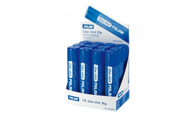 Milan Twist-Up Glue Stick, Solvent Free, Medium 21g. (New Lower Price for 2021)