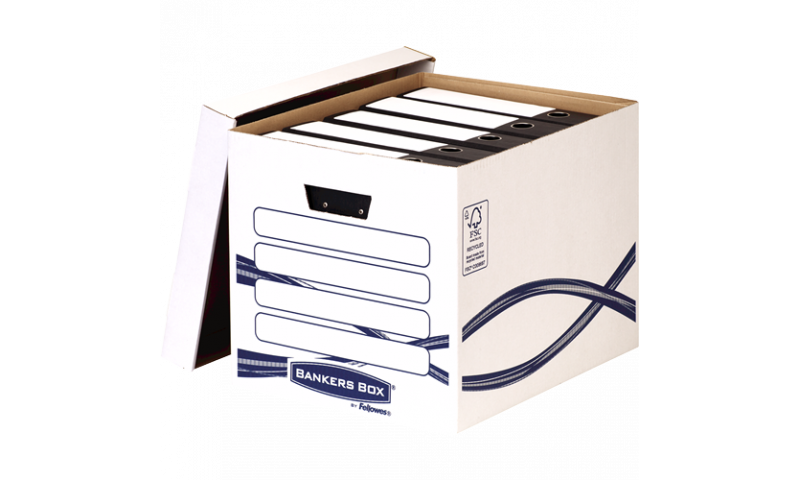 Fellowes Basics Large Tall Storage Box, 100% Recycled. (New Lower Price for 2021)