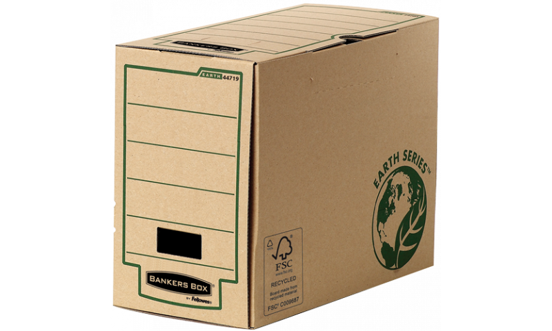 Fellowes Earth Series Transfer Storage File 150mm Wide, 100% Recycled. (New Lower Price for 2021)