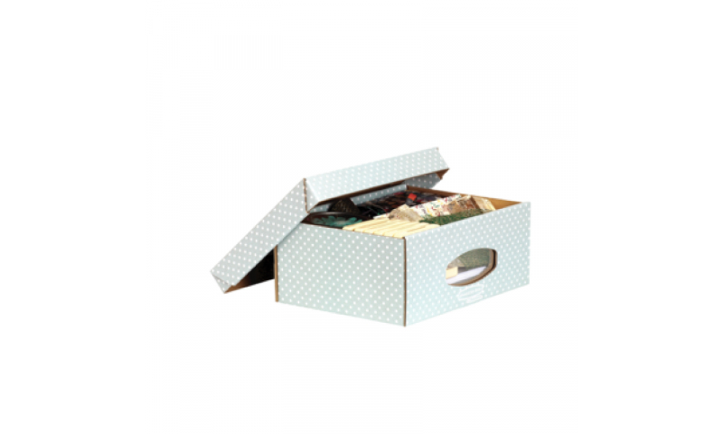 Fellowes Style A4 Window Storage Box, 100% Recycled, Green / White - Pack of 4