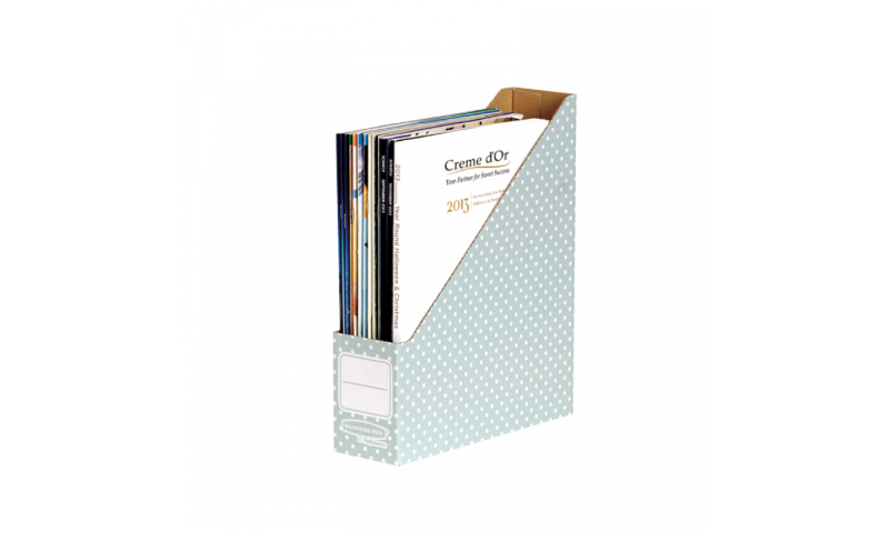 Fellowes Style Magazine File, 100% Recycled, Green / White - Pack of 10. (New Lower Price for 2021)