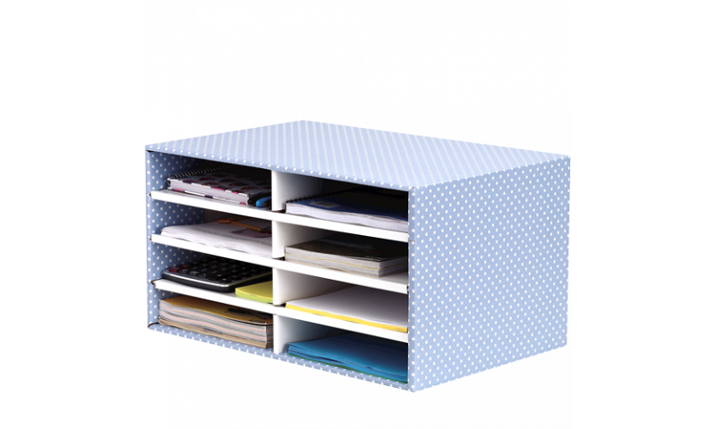 Fellowes Style Fastfold Desktop Sorter, Blue / White. 100% Recycled Board (New Lower Price for 2021)