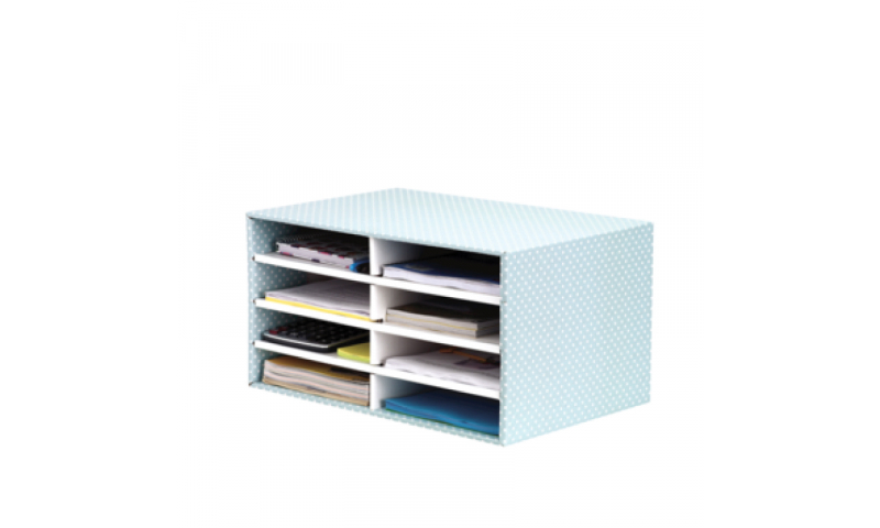 Fellowes Style Fastfold Desktop Sorter,Green / White. 100% Recycled Board (New Lower Price for 2021)